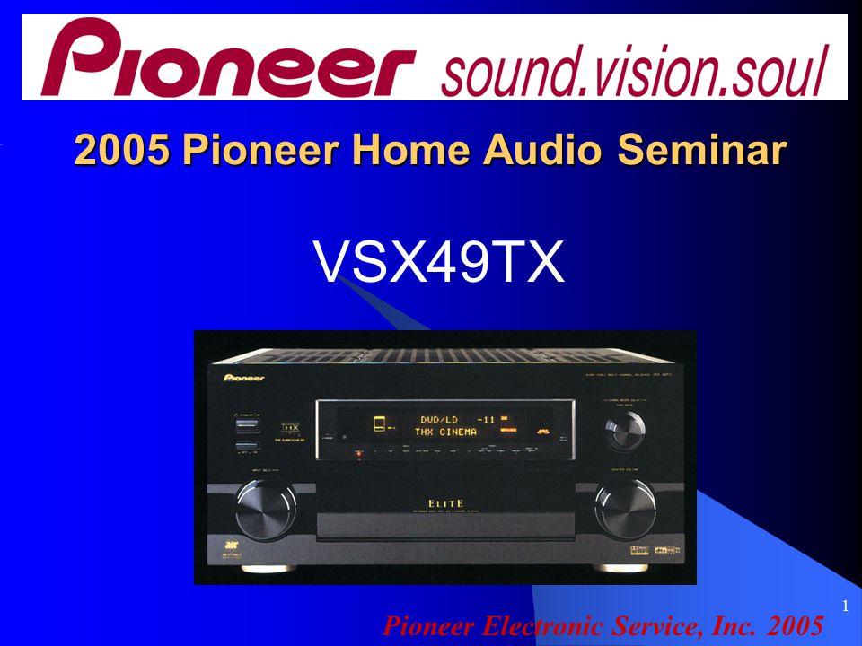 1 2005 Pioneer Home Audio Seminar VSX49TX Pioneer Electronic Service, Inc. 2005