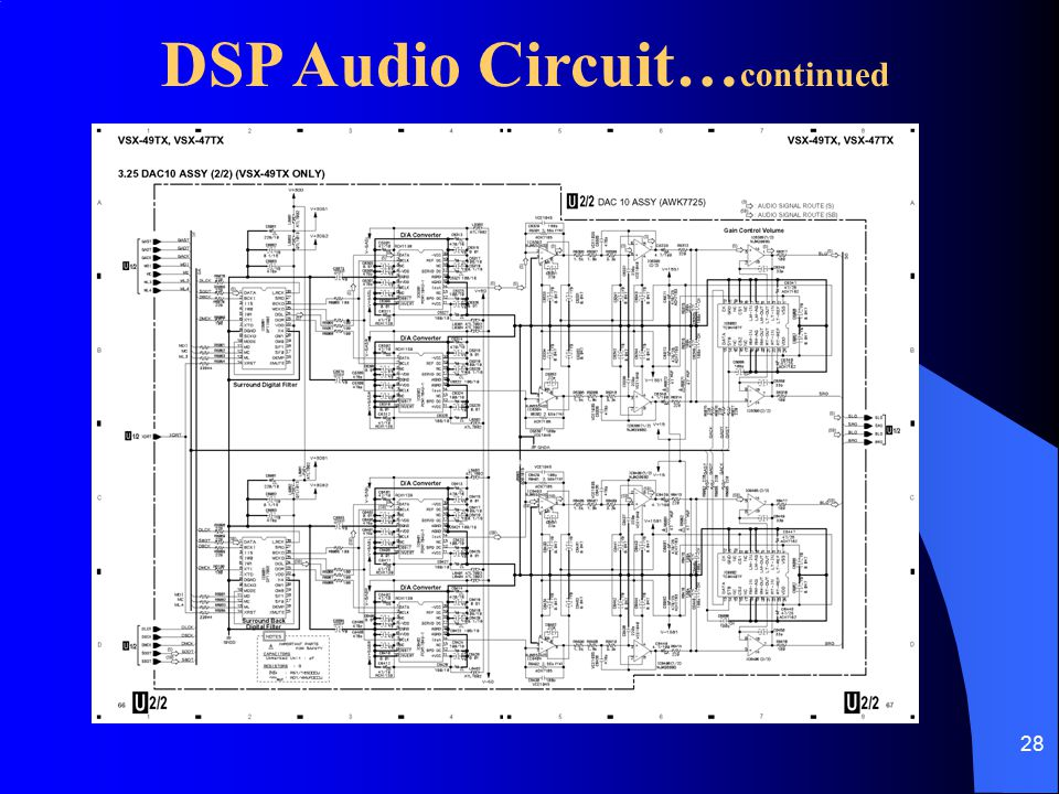 28 DSP Audio Circuit… continued