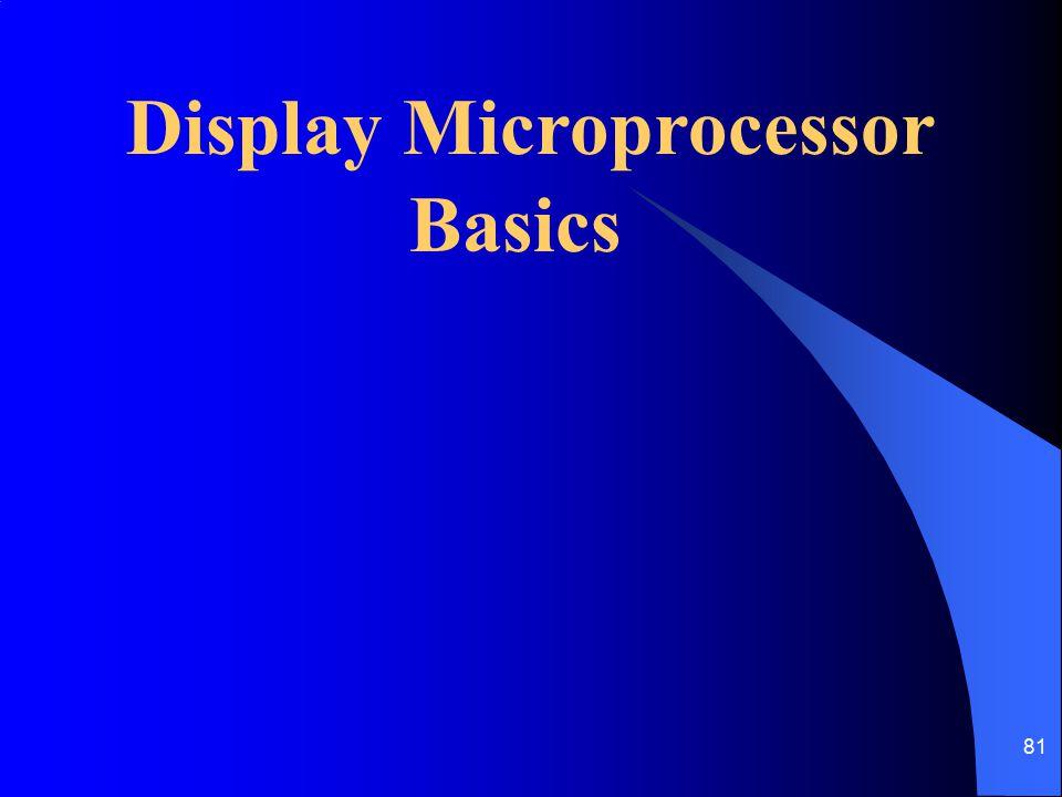 81 Display Microprocessor Basics