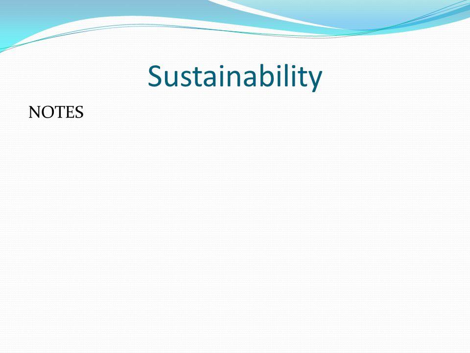 Sustainability NOTES