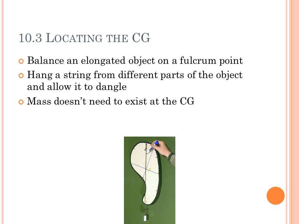 10.4 T OPPLING If the CG is above the area of support, the object won't topple As soon as the CG is outside of the footprint of the object, it will fall.
