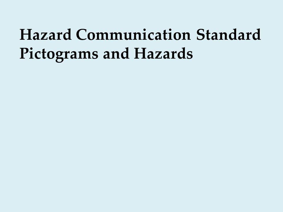 Hazard Communication Standard Pictograms and Hazards