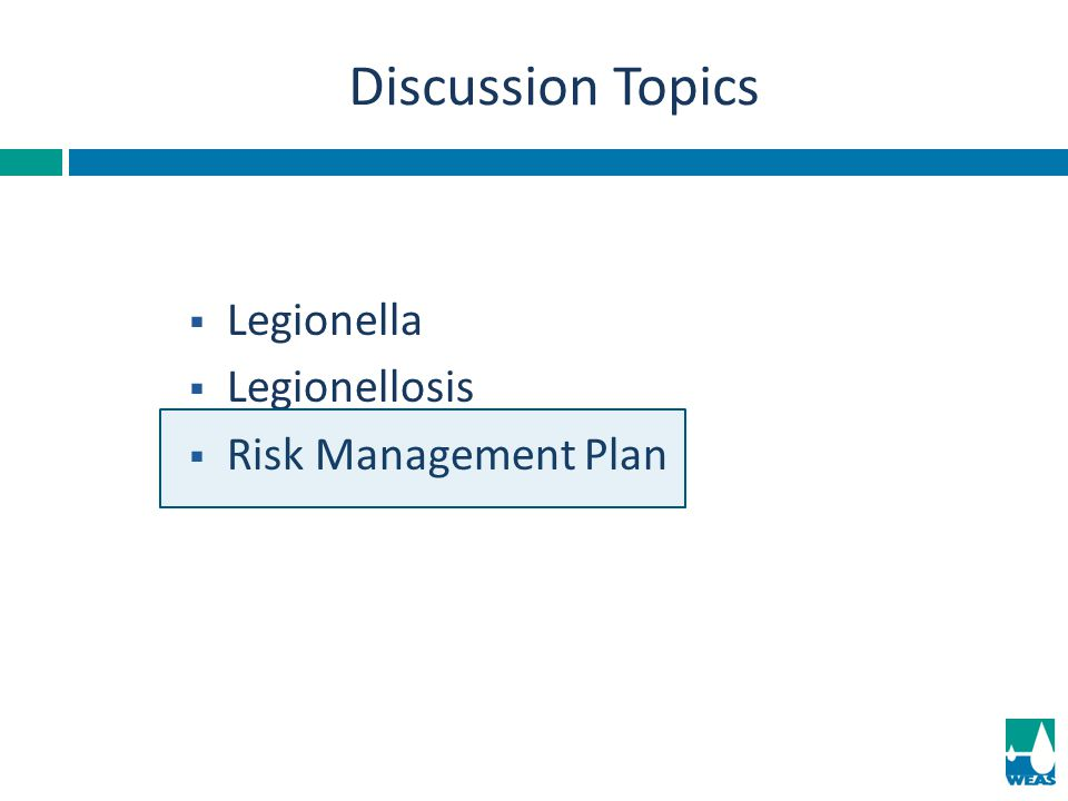 Validation Mitigation Cooling Towers Reassess Risk Mitigation Program0.1-1.0 Disinfection≥1.0 UK Standards for Legionella Limits: CFU/ml Best to strive for no detectable Legionella.