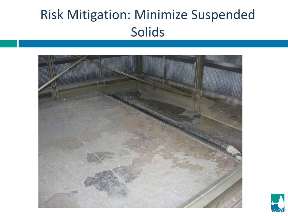 Risk Mitigation: Minimize Suspended Solids