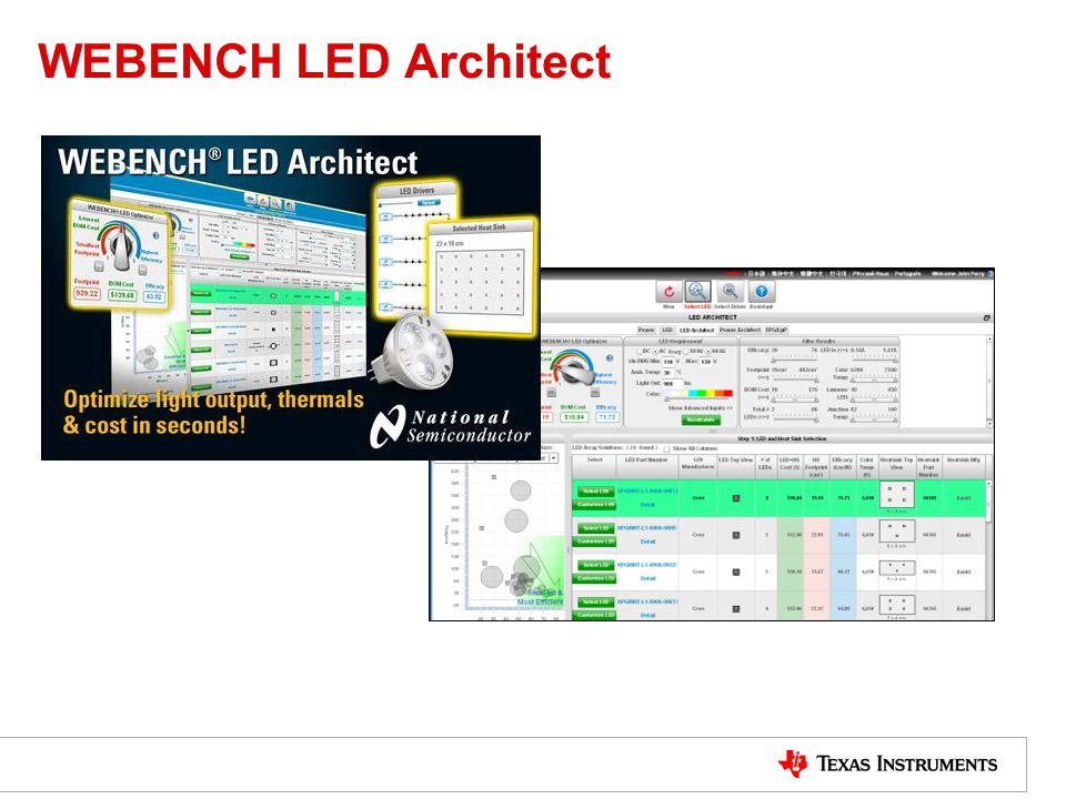 WEBENCH LED Architect