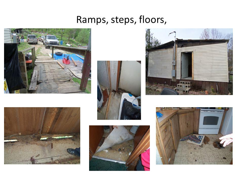 Ramps, steps, floors,