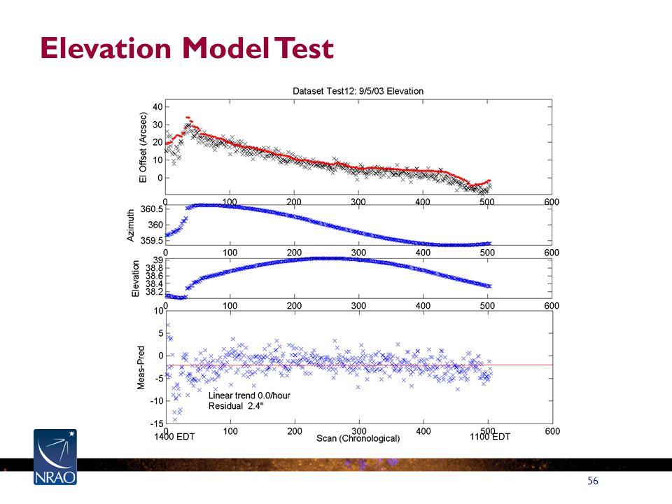 56 Elevation Model Test