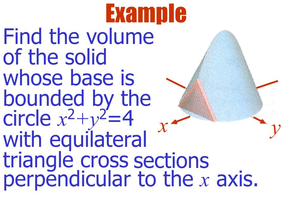 Solids with Known Cross Sections x y