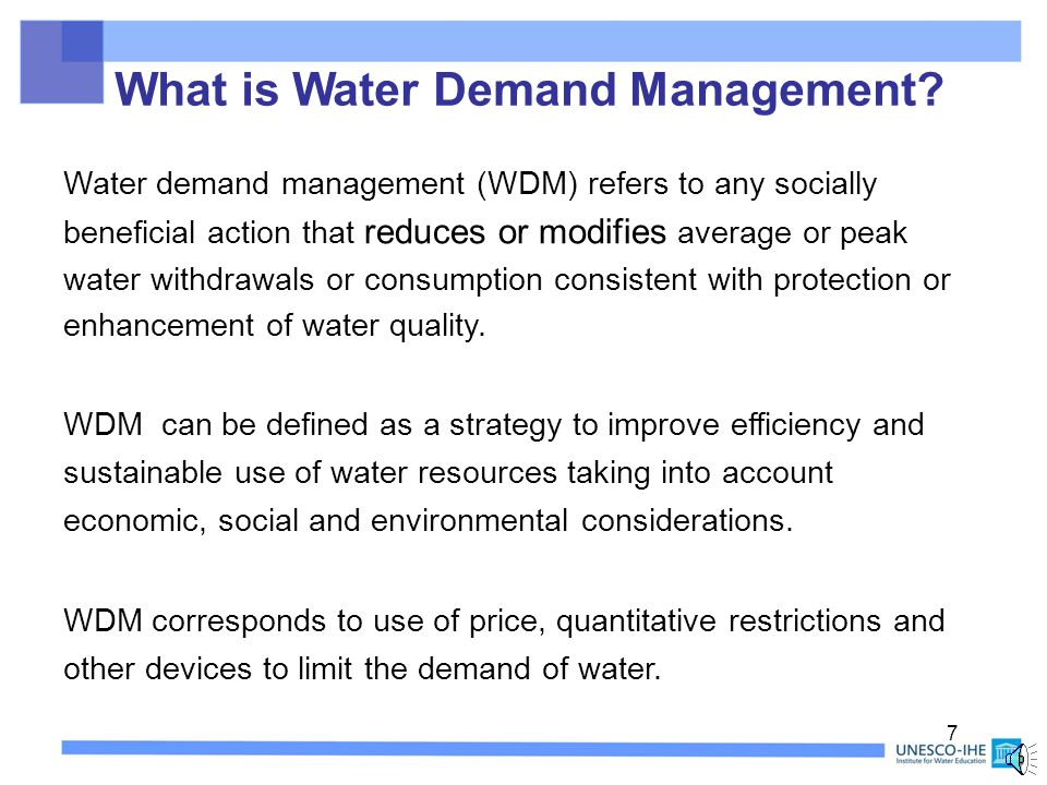 Reduction and Control of Unaccounted- for Water