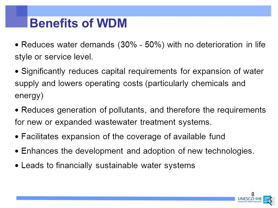 7 What is Water Demand Management.