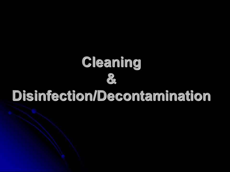 Disinfection Effectiveness Presence of gross debris Presence of gross debris Bioburden or number of microorganisms in an area or on an object Bioburden or number of microorganisms in an area or on an object Temperature Temperature