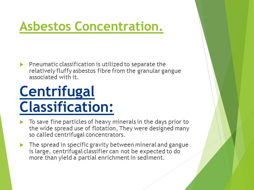 Asbestos Concentration.