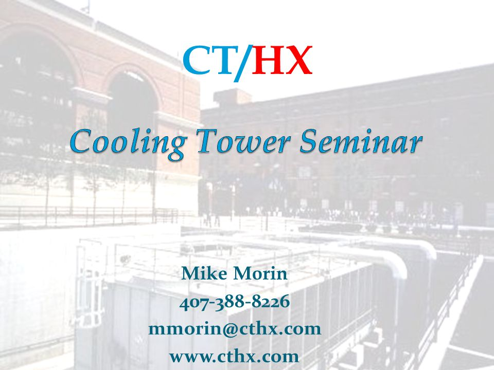 Main Menu Cooling Towers by the Book Cooling Tower Selection #1 – Option #1 Tonnage = GPM x ∆T x 500/15,000 Remember Conditions Are: 1200 USGPM flow 95ºF T(1) entering water temperature 85ºF T(2) leaving water temperature 80ºF T(wb) wet-bulb Tonnage = 1200 x 10 x 500/15,000 Tonnage = 400 tons