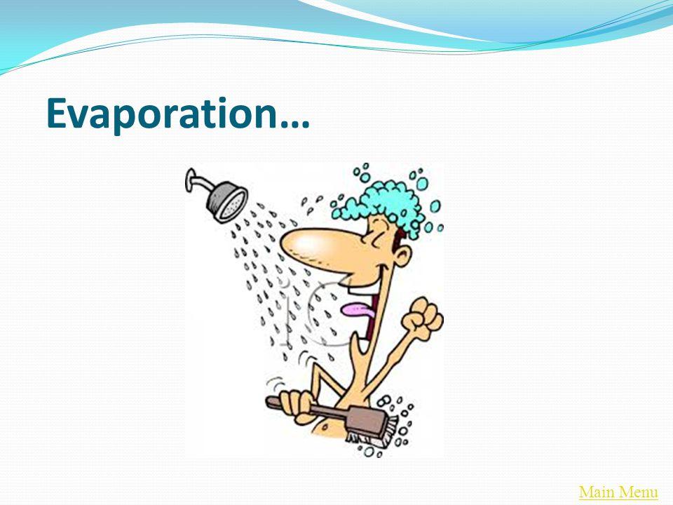 Main Menu Evaporation…