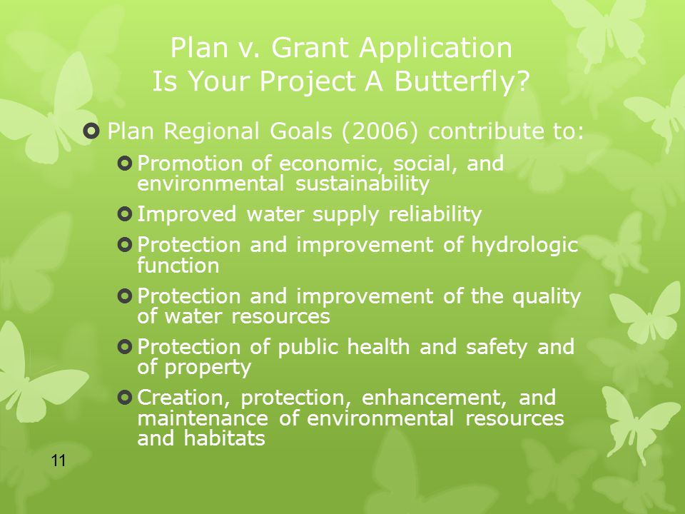 Plan v. Grant Application Is Your Project A Butterfly.