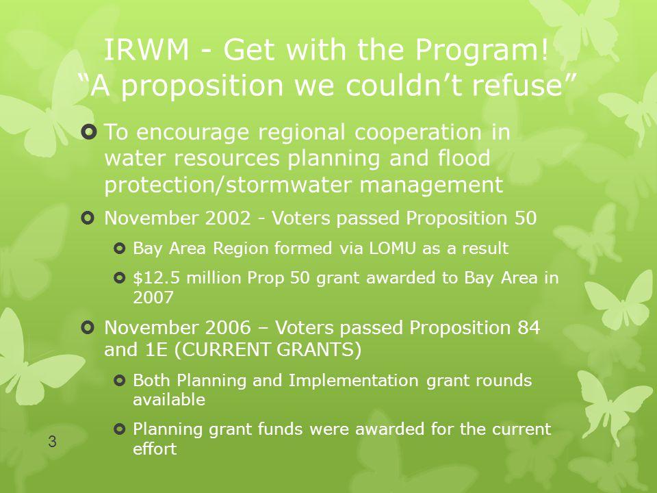IRWM - Get with the Program.