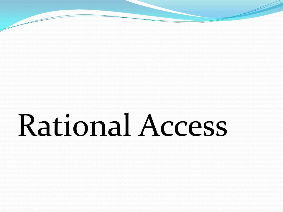 Rational Access