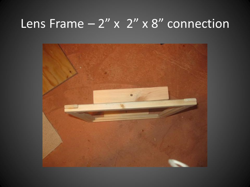 Lens Frame – 2 x 2 x 8 connection