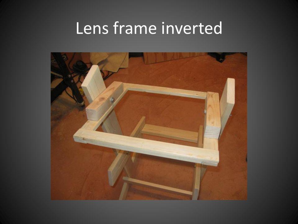 Lens frame inverted