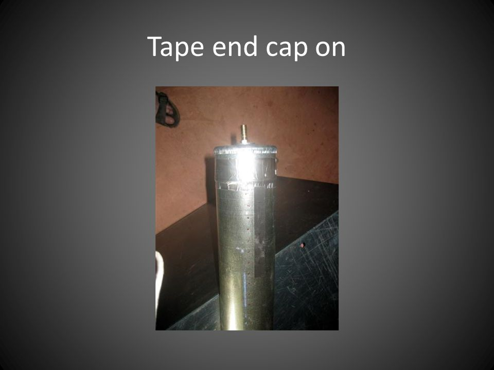 Tape end cap on
