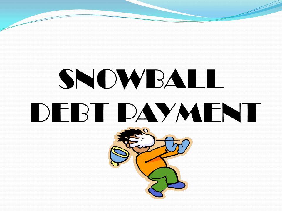 SNOWBALL DEBT PAYMENT
