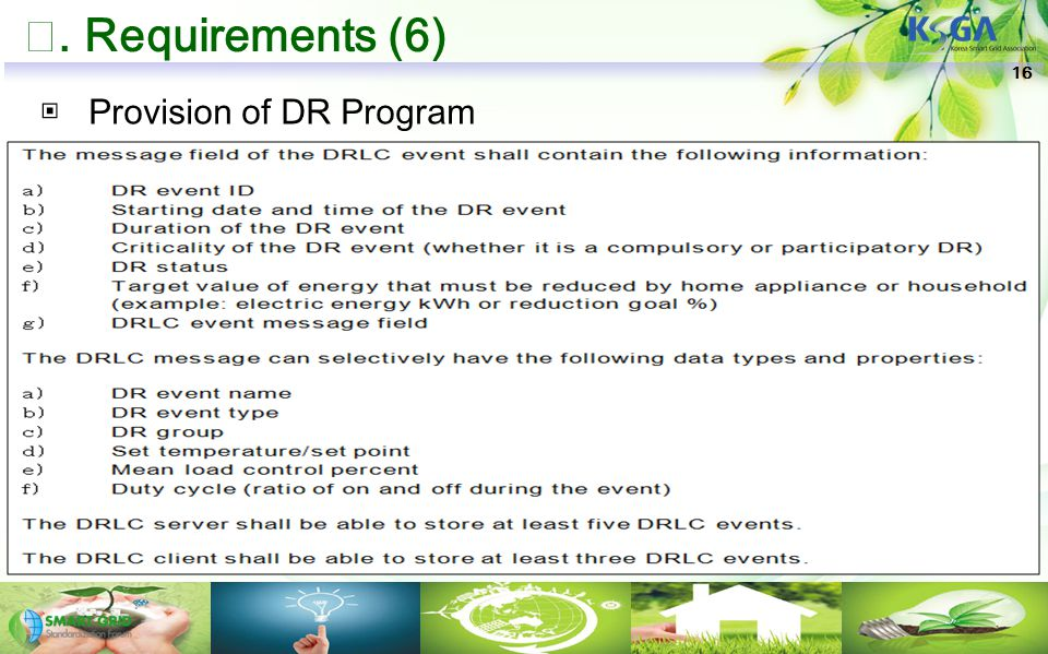 Ⅶ. Requirements (6) 16 ▣ Provision of DR Program