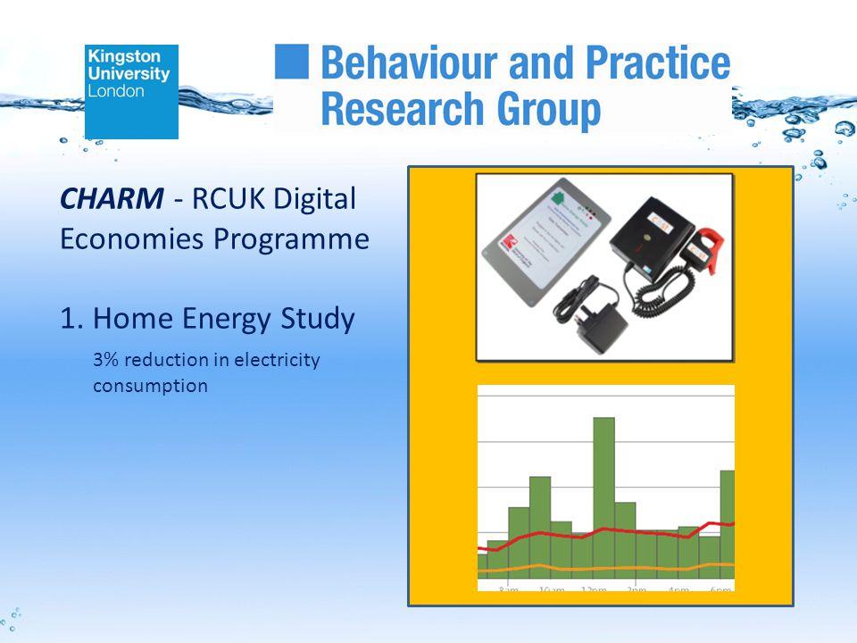 CHARM - RCUK Digital Economies Programme 1.