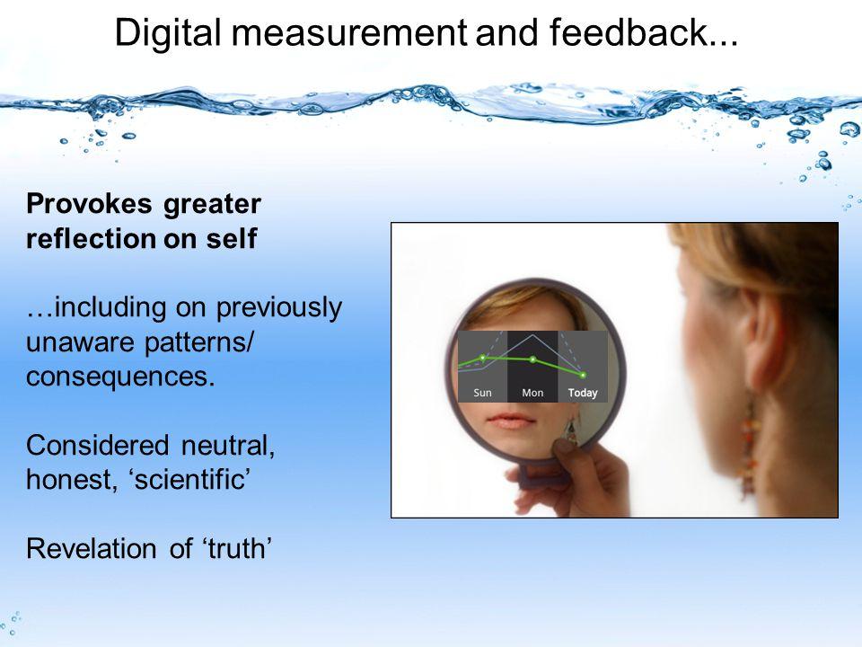 Digital measurement and feedback...
