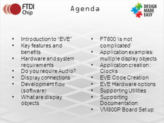 Agenda Introduction to EVE Key features and benefits Hardware and system requirements Do you require Audio.