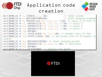 Application code creation