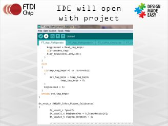 IDE will open with project