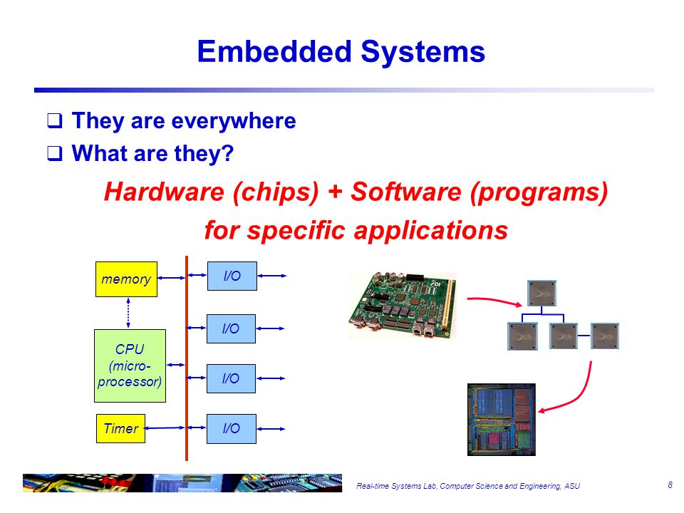Real-time Systems Lab, Computer Science and Engineering, ASU Embedded Systems  They are everywhere  What are they.