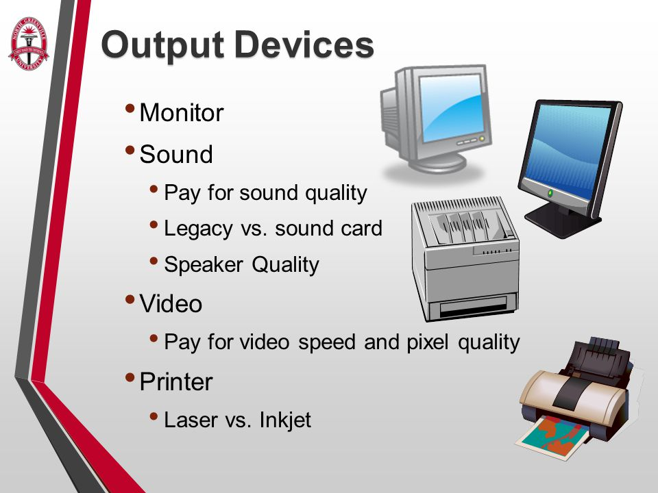 Output Devices Monitor Sound Pay for sound quality Legacy vs.