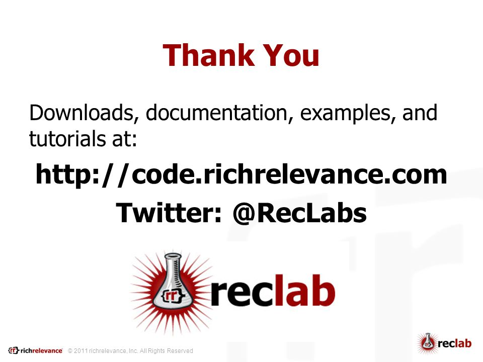 © 2011 richrelevance, Inc.