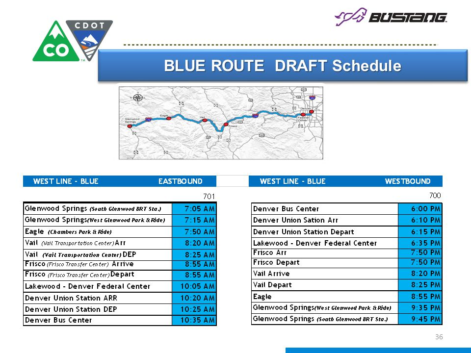 BLUE ROUTE DRAFT Schedule 36