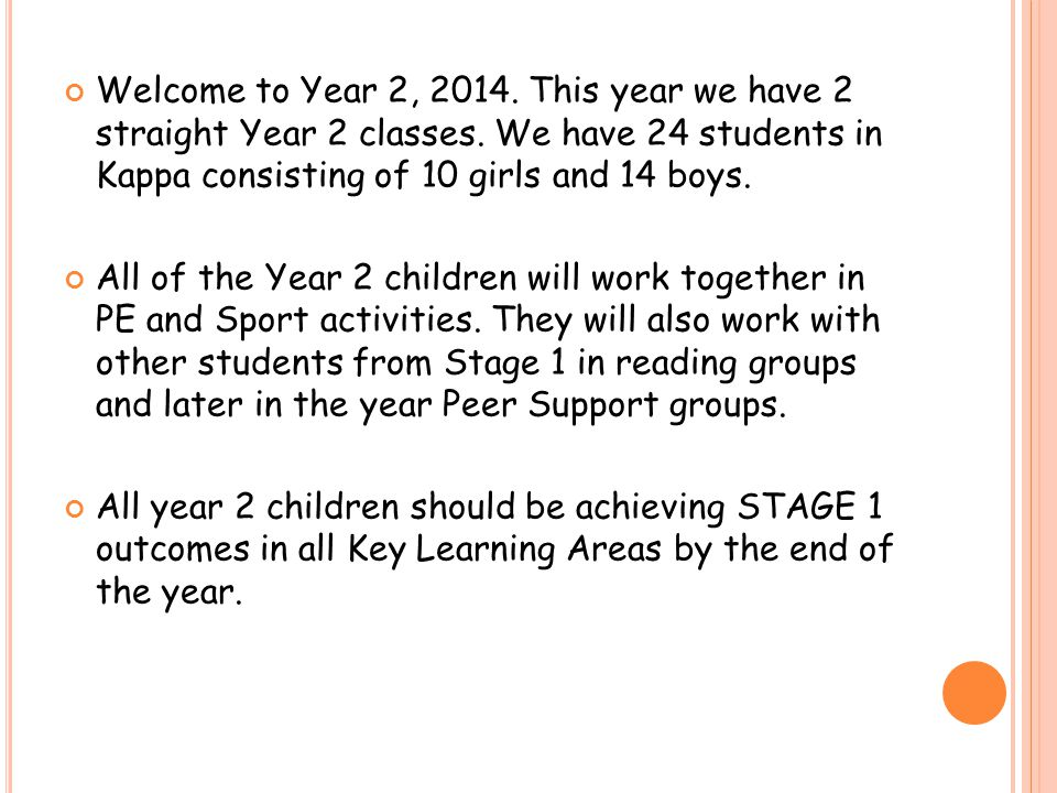 Welcome to Year 2, 2014. This year we have 2 straight Year 2 classes.