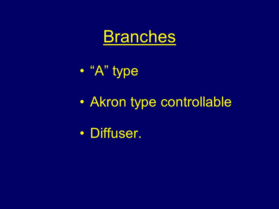 "Branches ""A"" type Akron type controllable Diffuser."