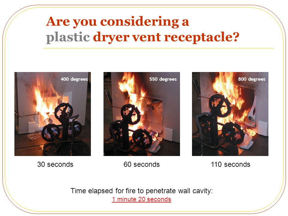 Are you considering a plastic dryer vent receptacle.