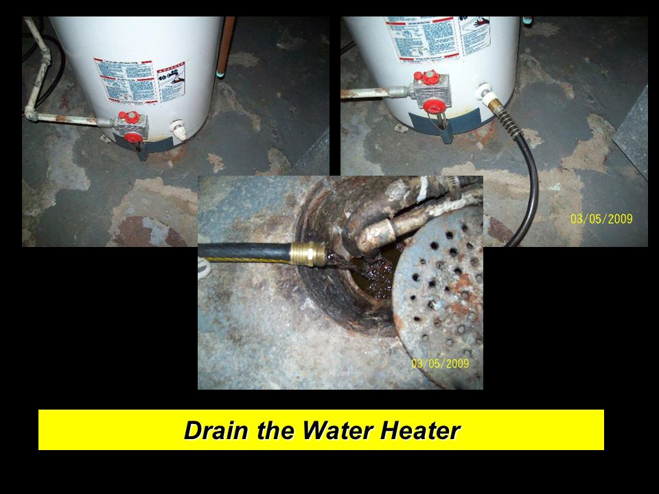 Drain the Water Heater