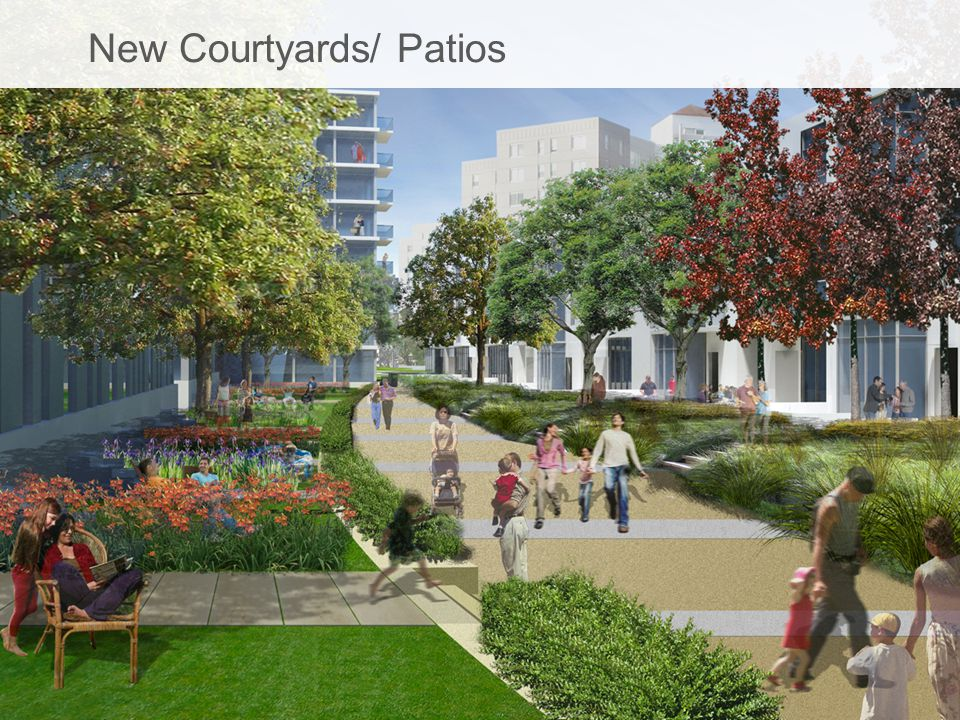 New Courtyards/ Patios