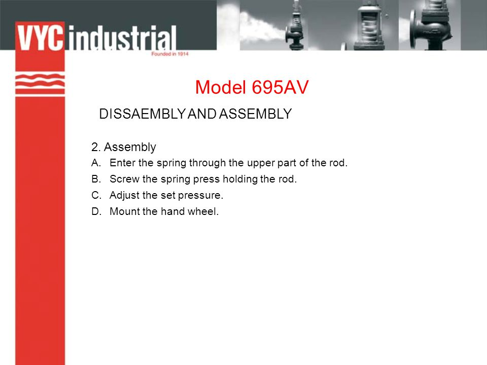 Model 695AV DISSAEMBLY AND ASSEMBLY 2.