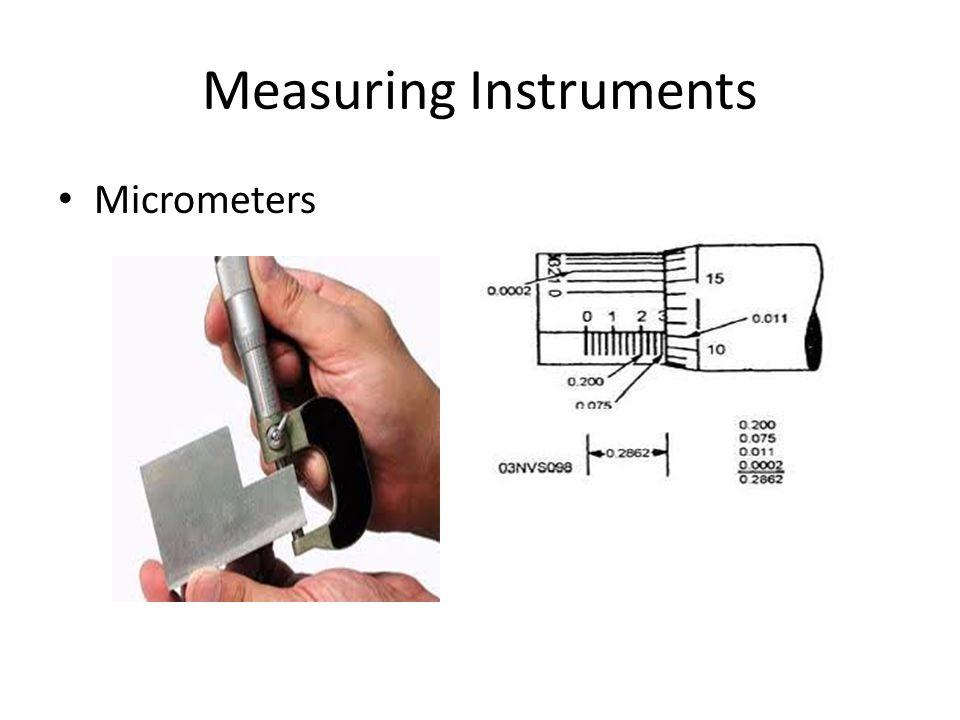 Measuring Instruments Micrometers
