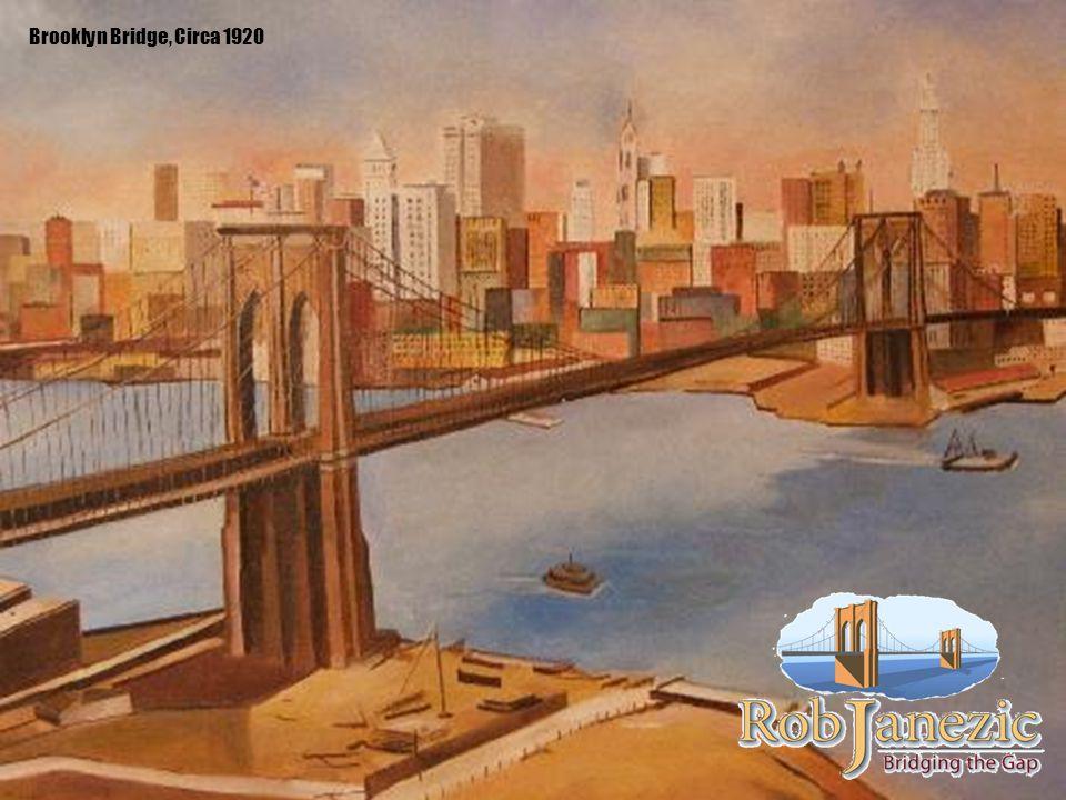 Brooklyn Bridge, Circa 1920