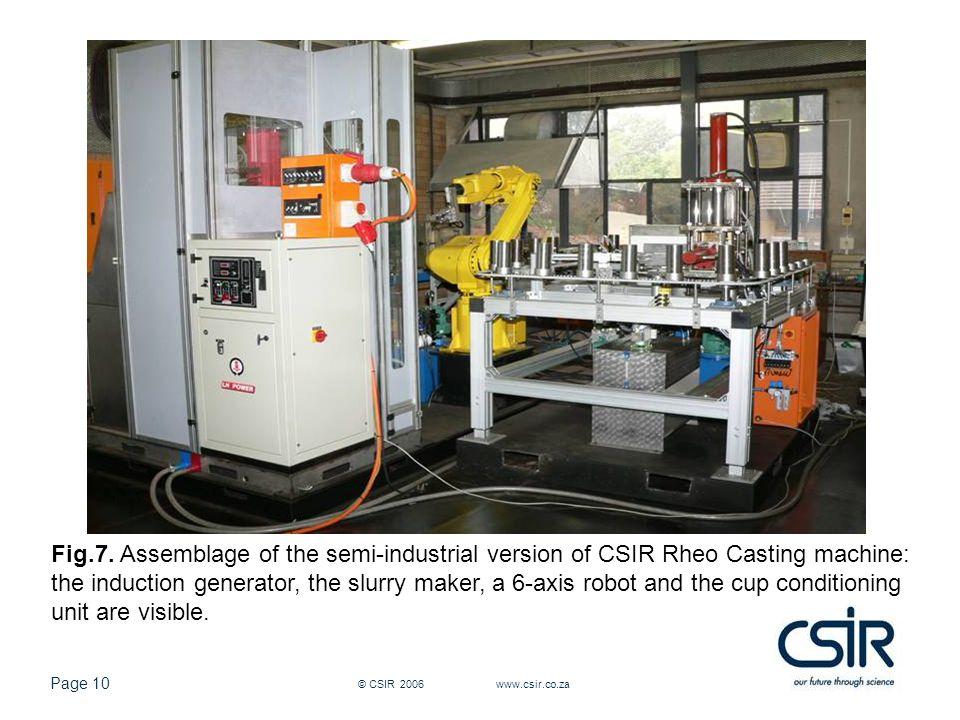 Page 10 © CSIR 2006 www.csir.co.za Fig.7.