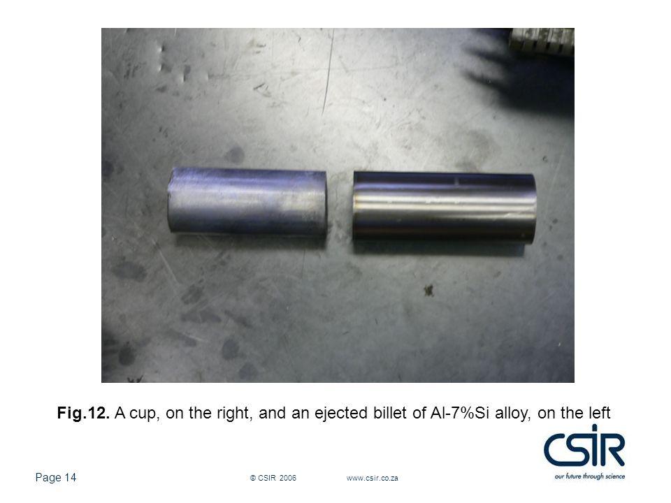 Page 14 © CSIR 2006 www.csir.co.za Fig.12.