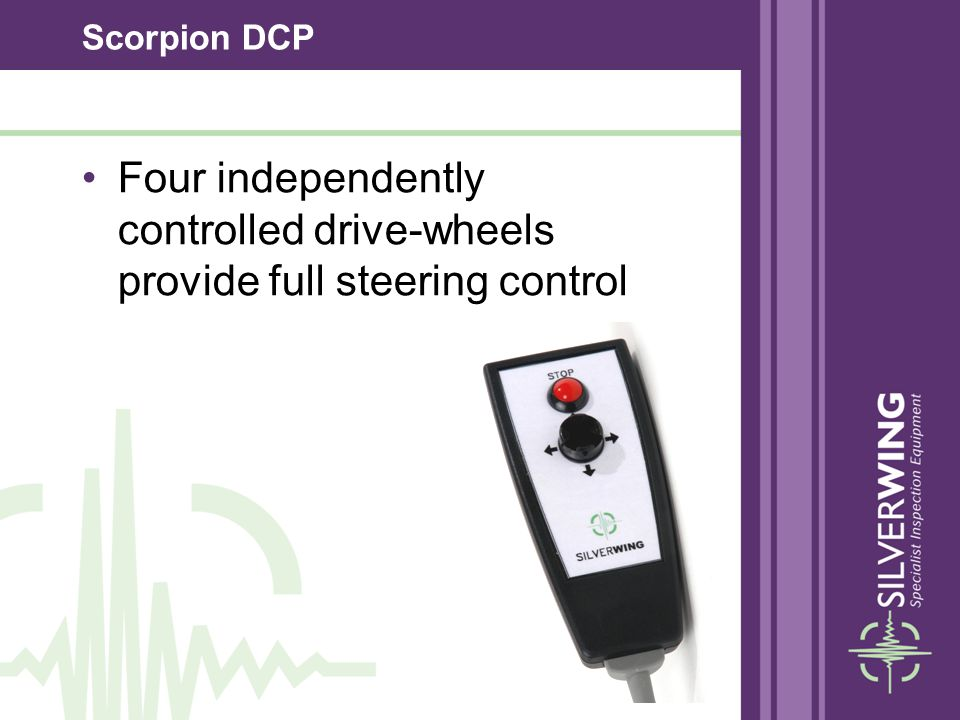 Scorpion DCP Four independently controlled drive-wheels provide full steering control