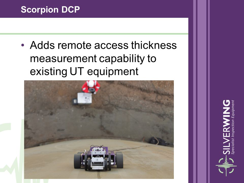 Scorpion DCP Unique Dry Coupled Wheel Probe No liquid couplant required 2.5mm near surface resolution