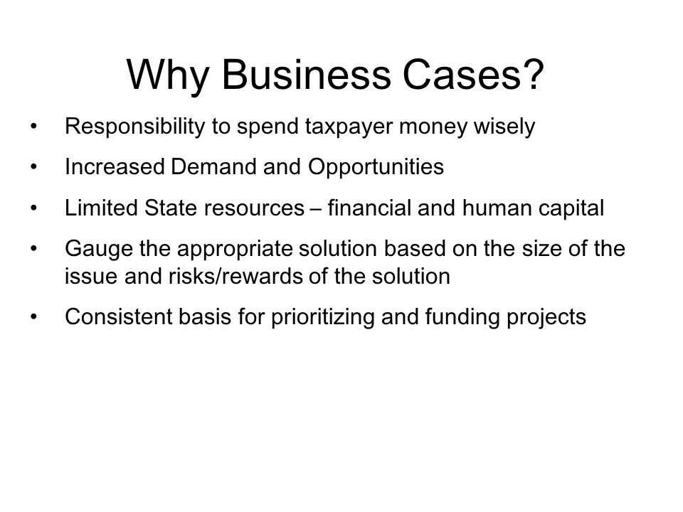 What is a Good Business Case.