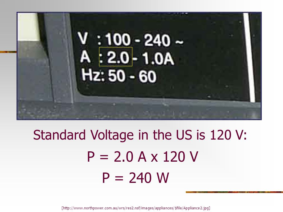 Electrical Energy The amount of power that is used over a given time. Energy = Power x Time