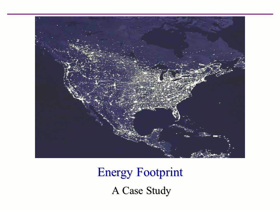 Energy Footprint A Case Study